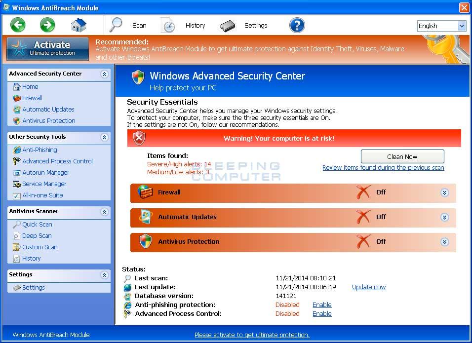 Windows AntiBreach Module