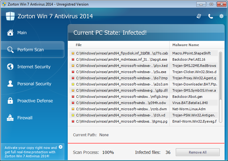 Zorton Win 7 Protection 2014