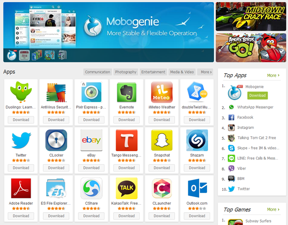 Mobogenie apk store for android and windows free download.