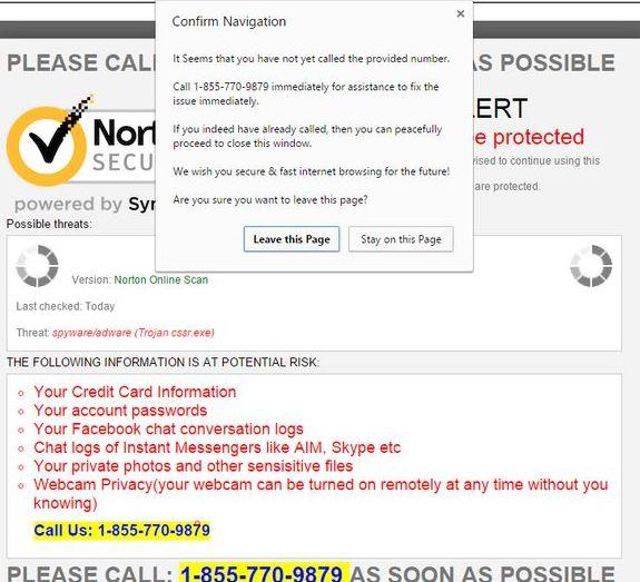 Norton-Security-Warning-Popup