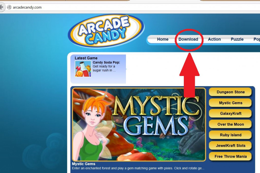 Arcade candy