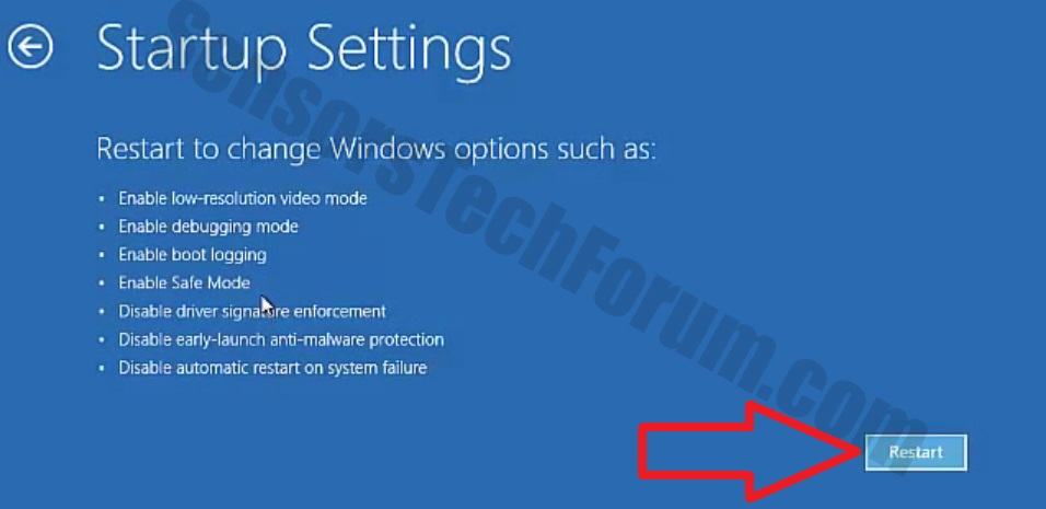 Windows 10 Manual. Advanced Startup Recovery Options ...