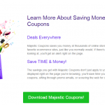 Majestic Coupons Ads
