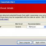 Trojan-microsoft-security-essentials-alert