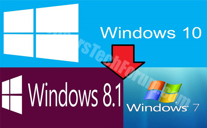 Windows downgrade