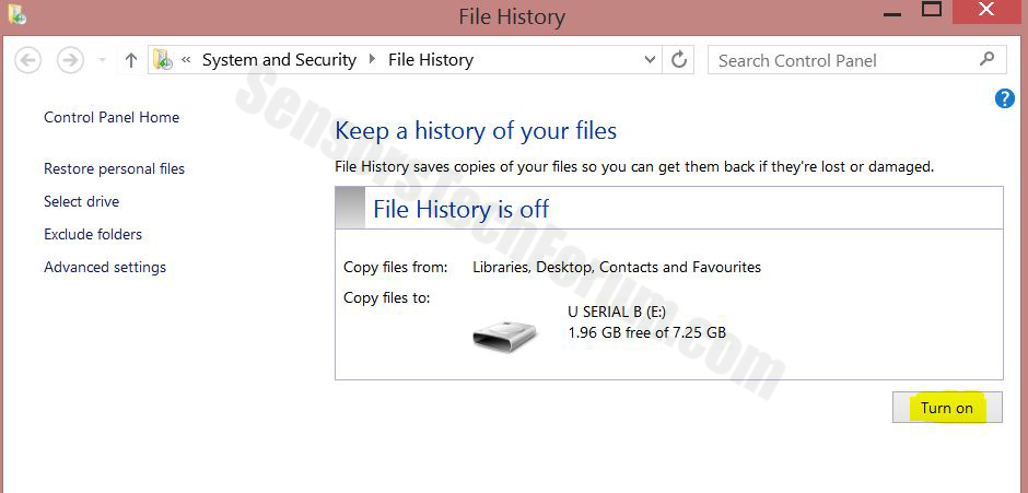 filehistory 3