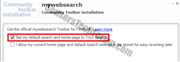 mywebsearch-trovi-homepage
