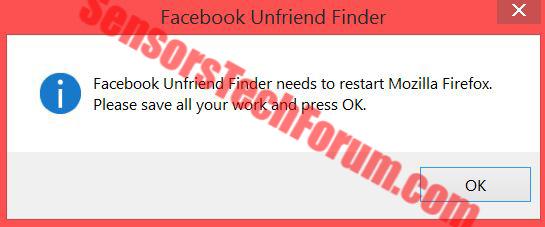 Facebook-unfriend-finder-restart browser