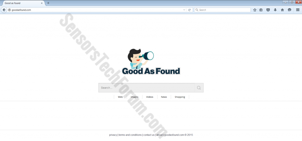 browser hijacker-ufficiale-page Good-as-found-