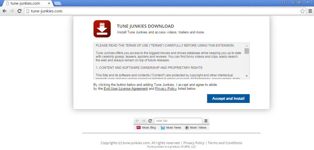 Tune-Junkies-browser-hijacker