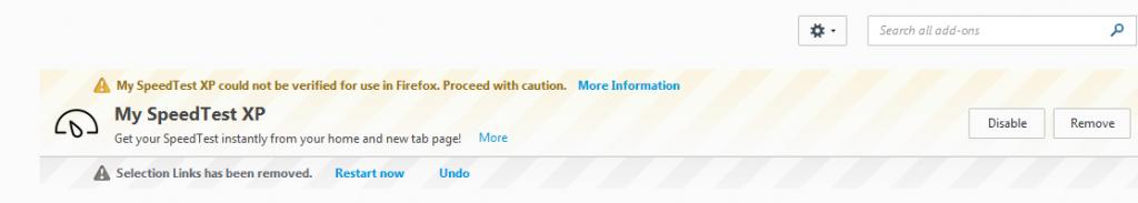 myspeedtestxp-add-on-caution-warning