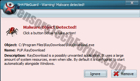 raydownload-malware-object-detected