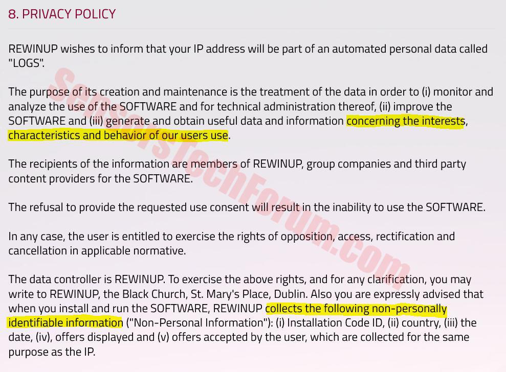 rewinup-non-personal-information-adware