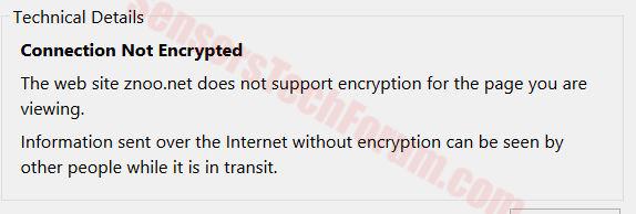 znoo.net-not-encrypted