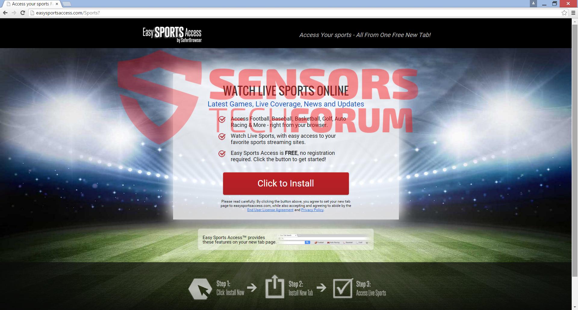 -Navegador-easysportsaccess barra de herramientas principal de sitio secuestrador a instalar