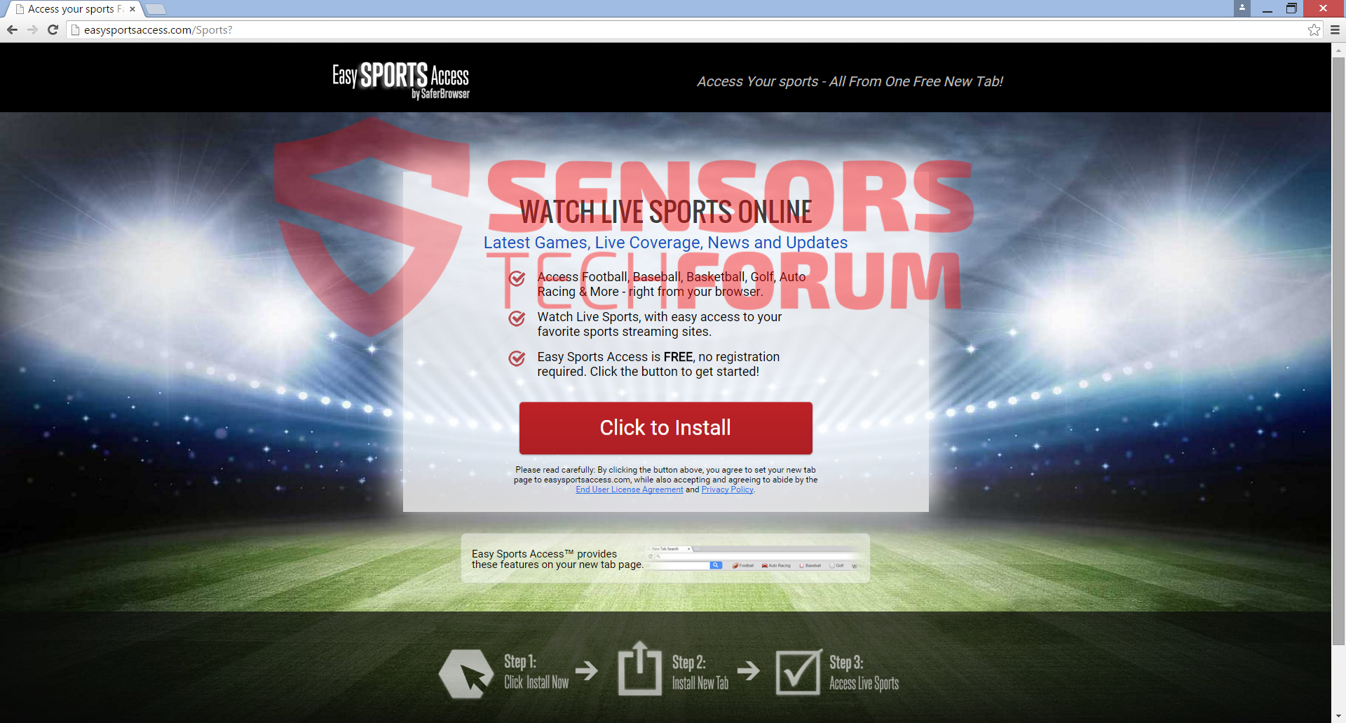 easysportsaccess-toolbar-main-site-browser-hijacker-install