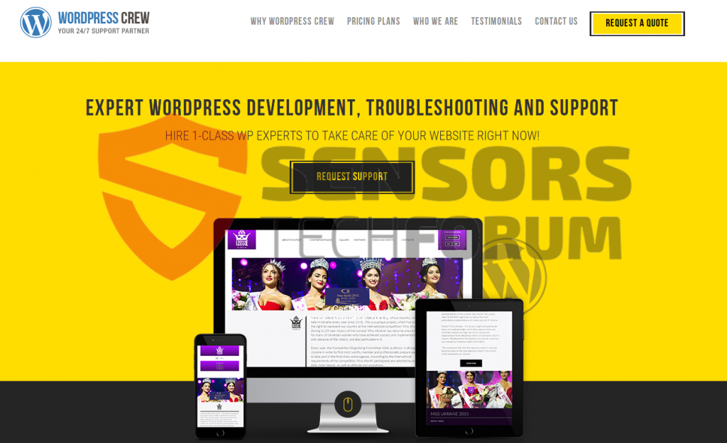 wordpress-crew-net-homepage