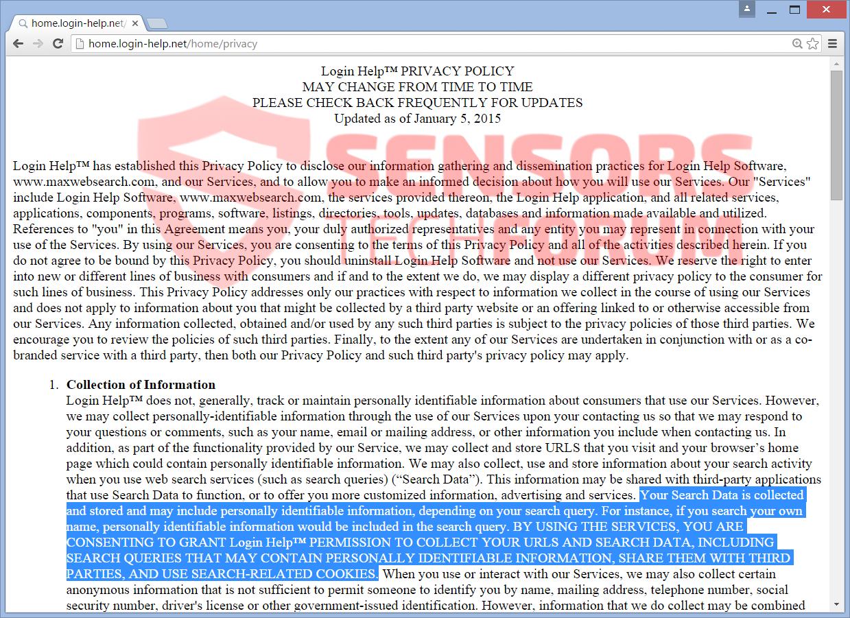 SensorsTechForum-Login-help-browser-hijacker-privacy-policy