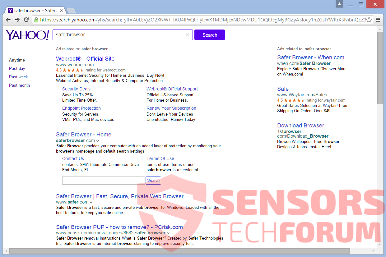 SensorsTechForum-Login-help-search-yahoo-redirect-browser-hijacker