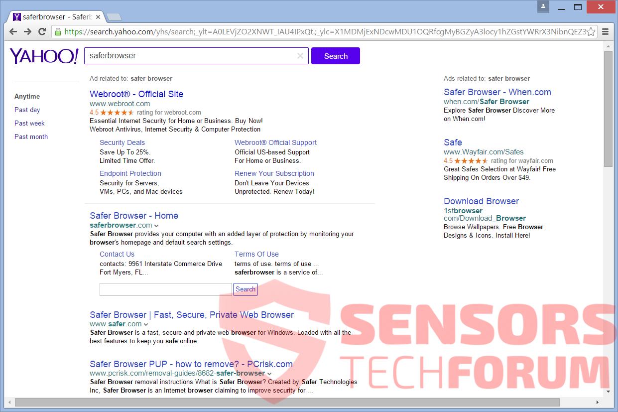 SensorsTechForum-Login-help-search-yahoo-redirect-browser-hijacker