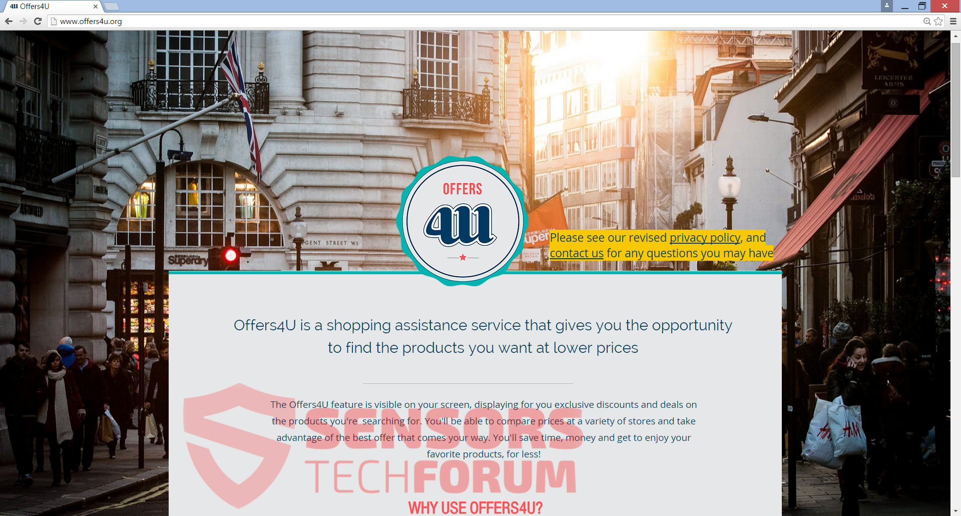 SensorsTechForum-offers4u-offers4u-officielle-site-hoved-side