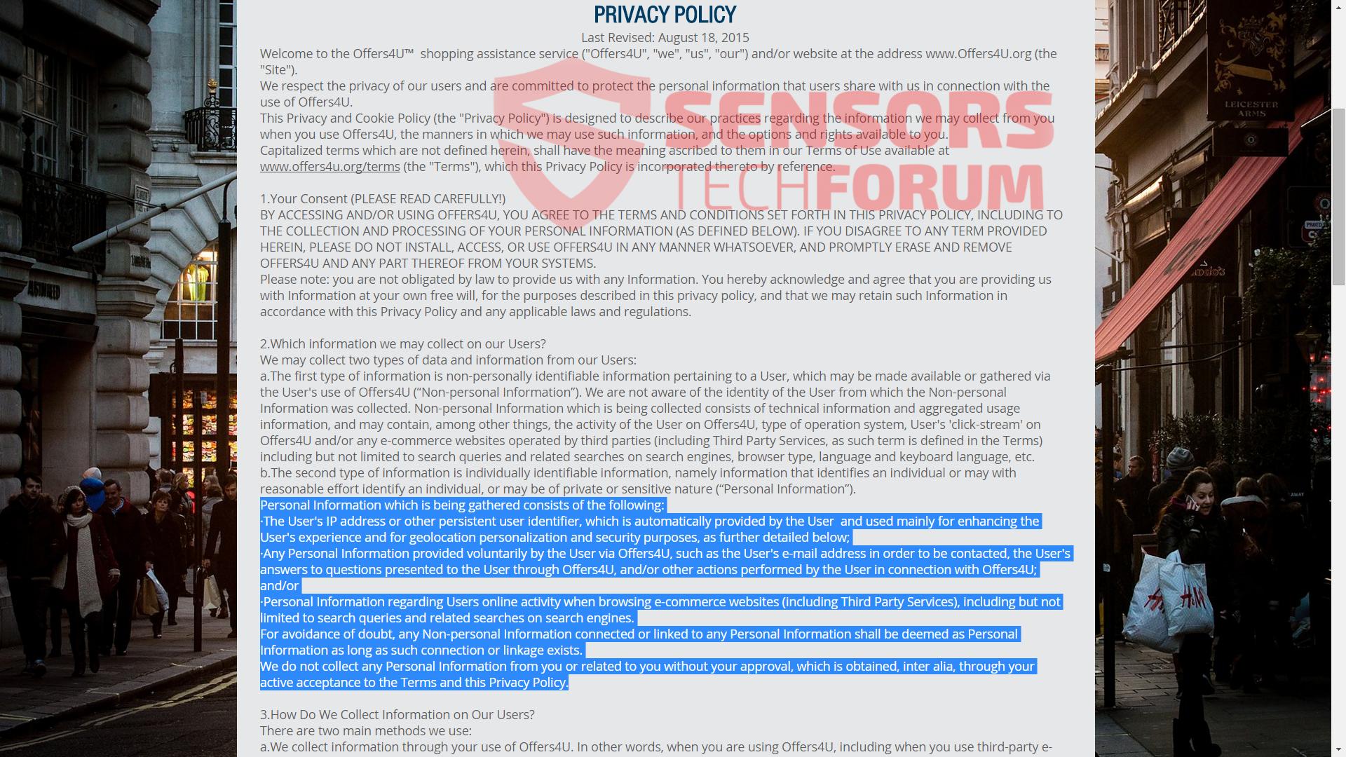 SensorsTechForum-offers4u-offers-4u-official site-privacy-policy