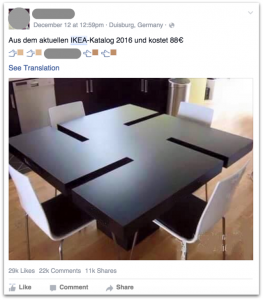 IKEA Hadolf Swastika-vormige tafel is een Facebook Scam - Hoe, Technologie en PC Security Forum | SensorsTechForum.com