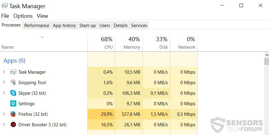 Driver-booster-task-manager-processing