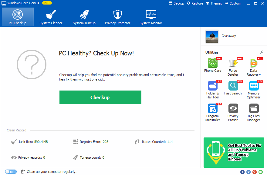 how to find disk clean up on windows 8.1