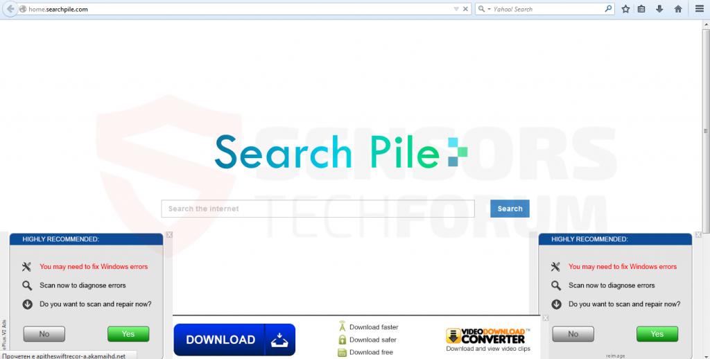 Search-pile-hijacker-sensorstechforum
