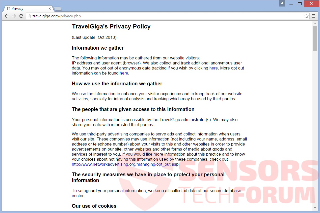 SensorsTechForum-travel-giga-official-site-privacy-policy