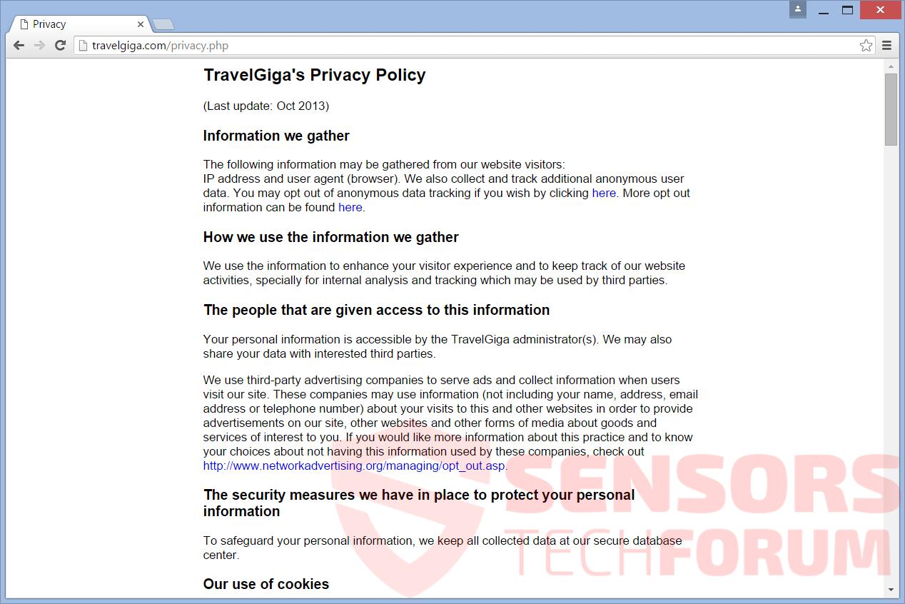 SensorsTechForum-travel-giga-official-site-privacy-policy