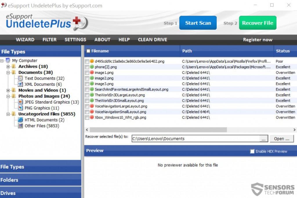 files-recovery-Undeleteplus-sensorstechforum