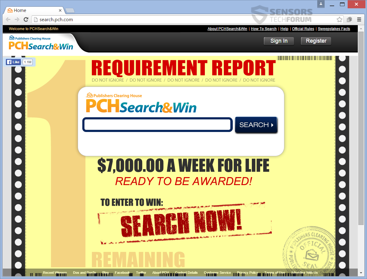 Search pch winners