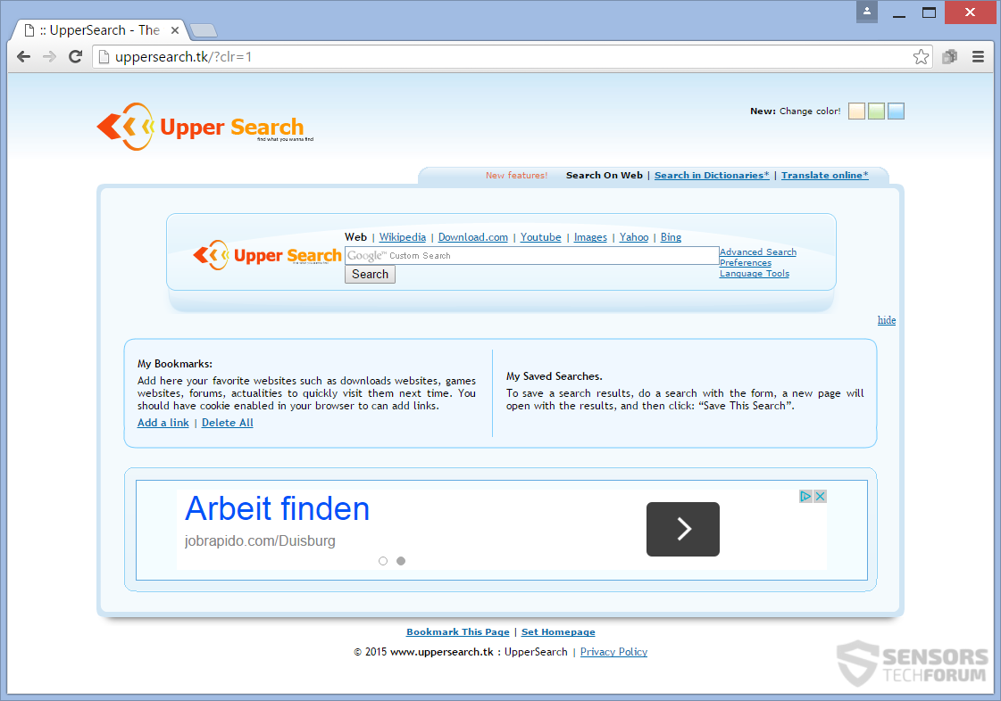 SensorsTechForum-uppersearch-tk-upper-search-tk-main-page-hijacker-ads