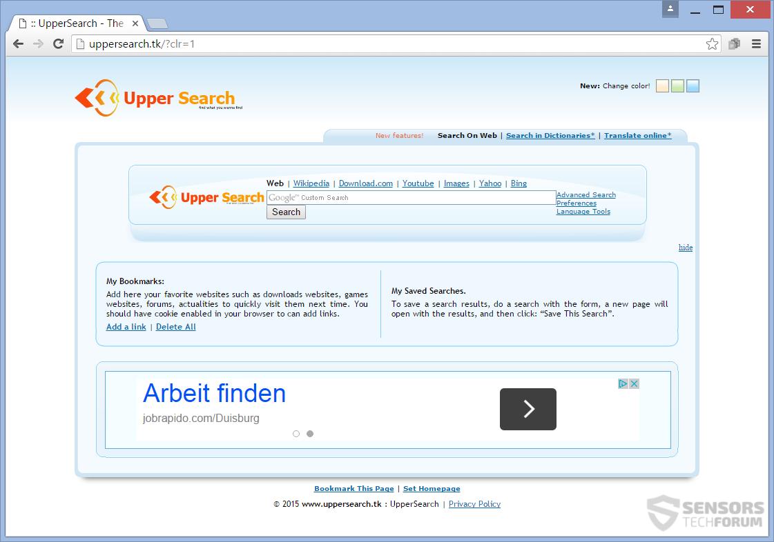 SensorsTechForum-uppersearch-tk-upper-search-tk-main-page-hijacker-ads