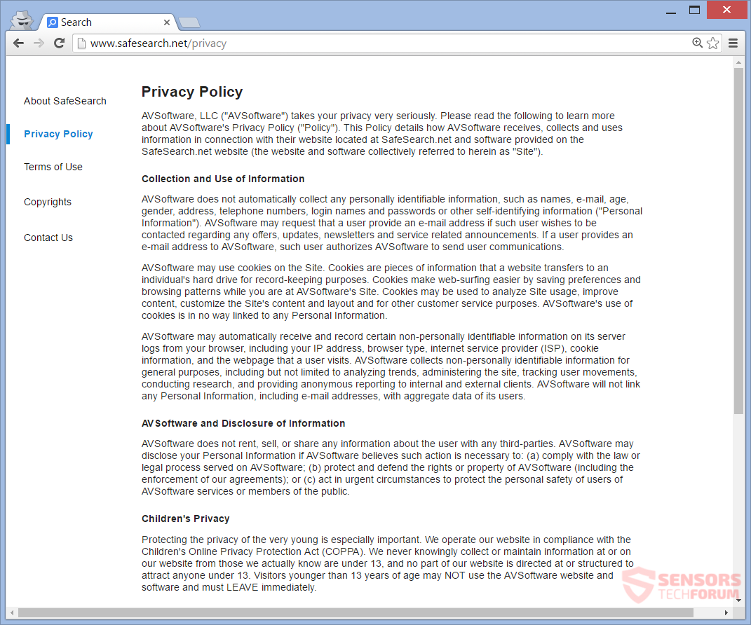 STF-safesearch-net-safe-search-browser-hijacker-privacy-policy