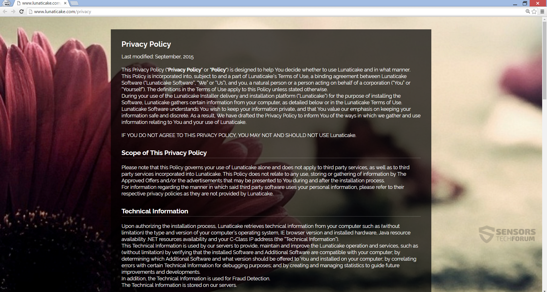 STF-search-lunaticake-com-main-page-privacy-policy