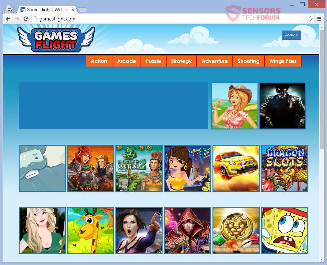 STF-gamesflight-com-games-flight-adware-ads-main-page
