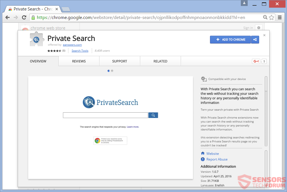STF-private-search-eanswers-browser-hijacker-extension-google-chrome-web-store