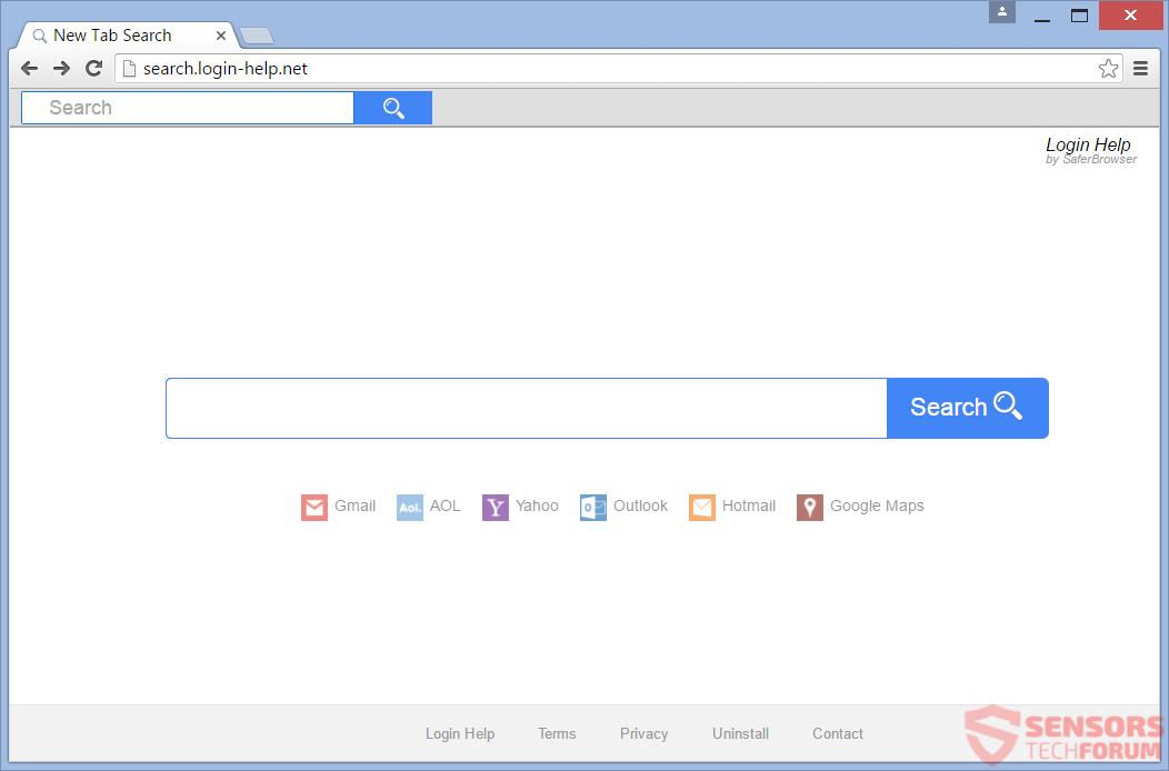 STF-search-login-help-net-safer-Browser-Hijacker-main-Seite