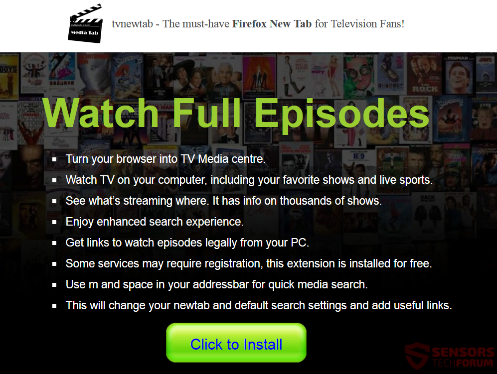 STF-tvnewtab-tv-new-tab-search-for-mozilla-firefox