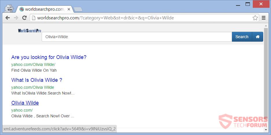 STF-world-search-pro-com-worldsearchpro-hijacker-new-tab-search-results-olivia-wilde-redirects-ads