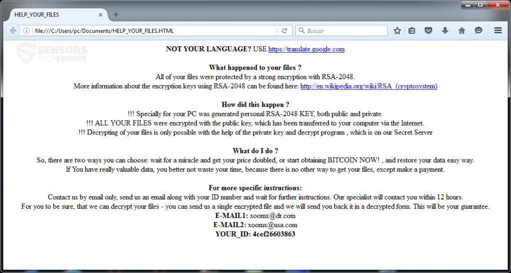cryptmix-ransomware rançon note-stforum