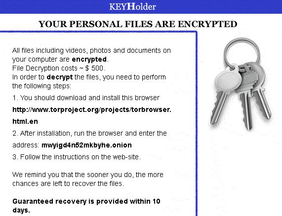 KEYHolder_ransomware-sensorstechforum