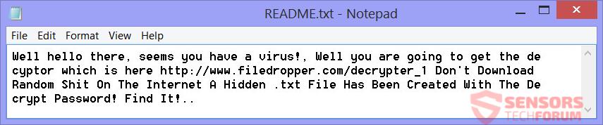 STF-hiddentear-ransomware-hidden-tear-educrypt-crypto-virus-isis-readme-txt-file
