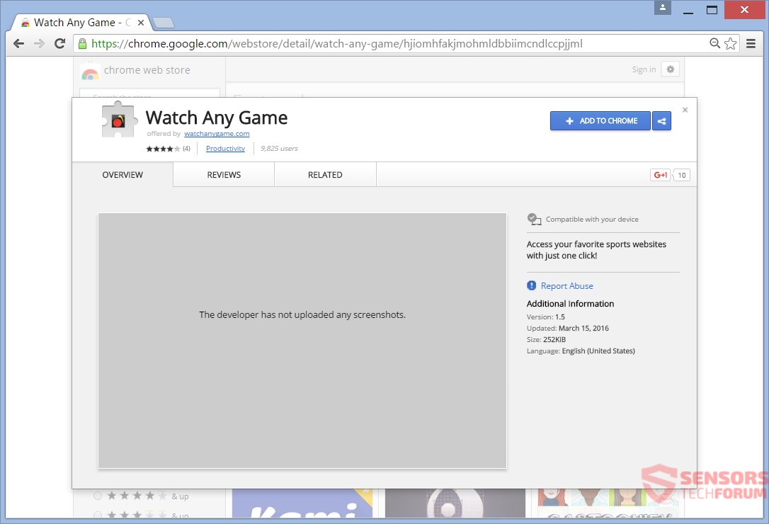 STF-watch-any-game-search-searchwag-com-wag-browser-hijacker-google-chrome-web-store-extension-add-on-watch-any-game