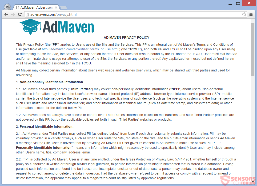 SensorsTechForum-ad-maven-com-privacy-policy