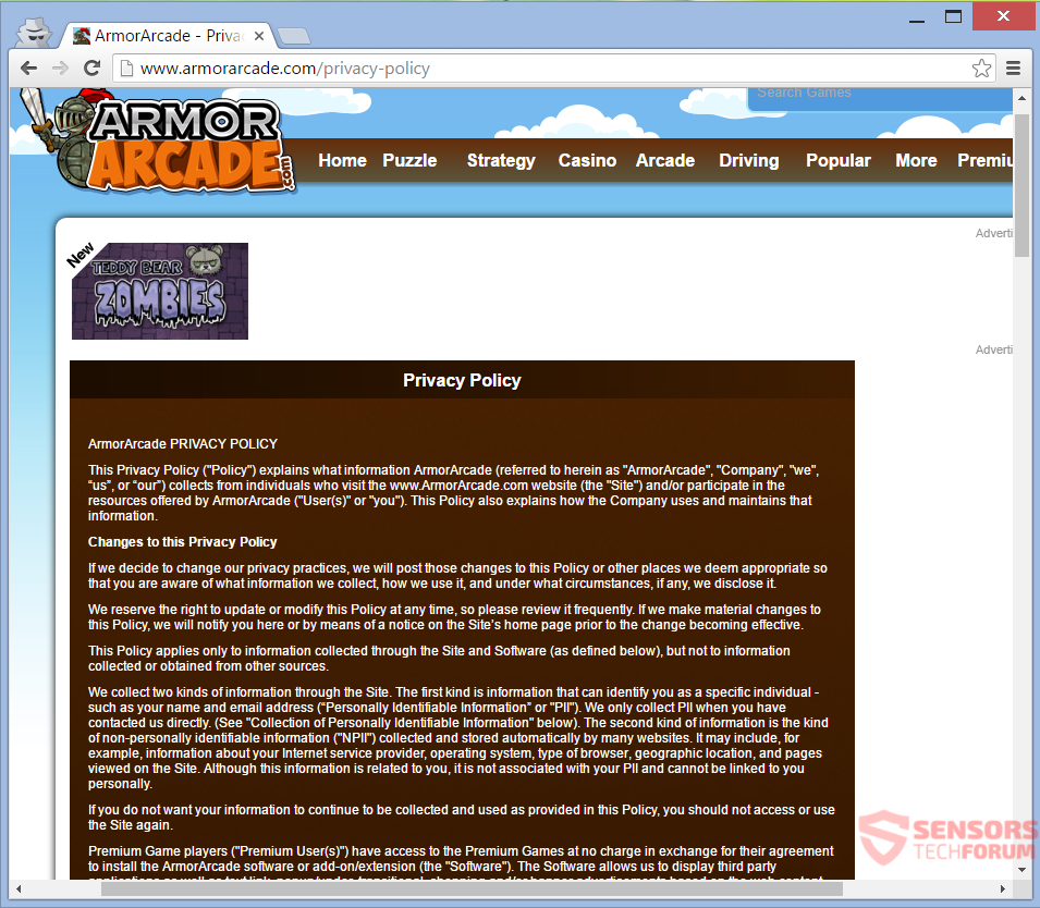 SensorsTechForum-armor-arcade-com-ads-privacy-policy