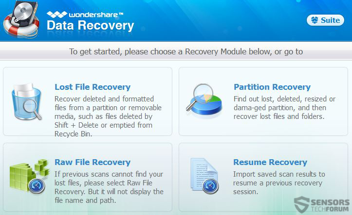 wondershare-data-recovery-preferenze-sensorstechforum